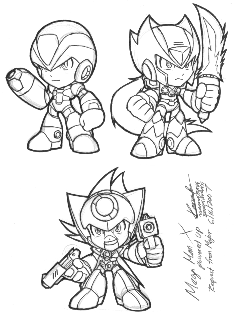 free zero mega man coloring pages