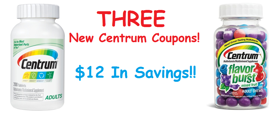THREE New Centrum Coupons ($12 In Savings!)
