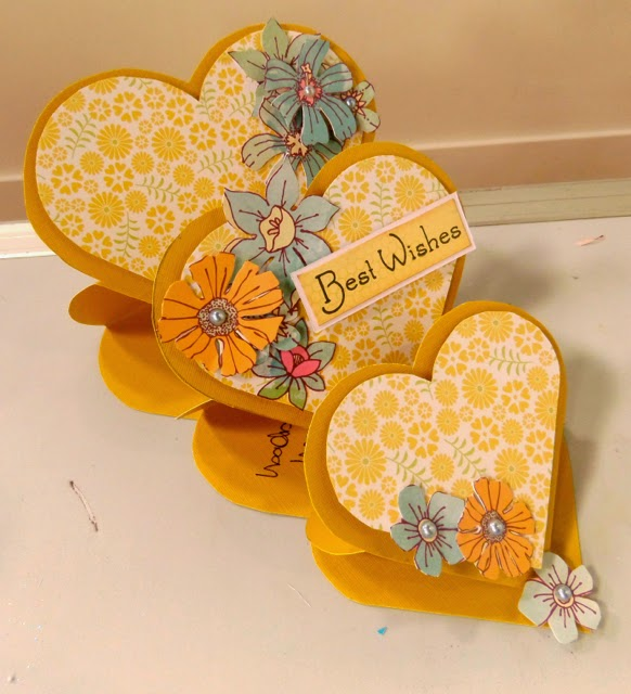 DCWV Floral Fair Stack an Brights Cardstock Stack Sample by Clare Charvill