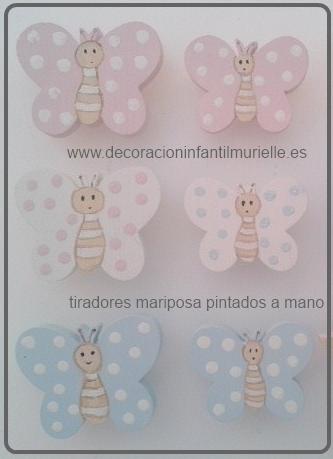 Nuevos tiradores infantiles de mariposas - Pomos y tiradores infantiles ...