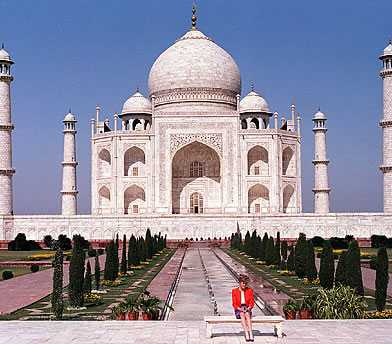 Diana at the Taj Mahal, 1992. Tim Graham/Getty Images