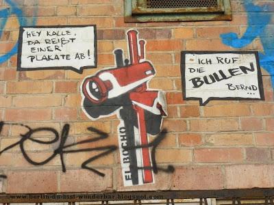 berlin, streetart, graffiti, Gebäude, el bocho