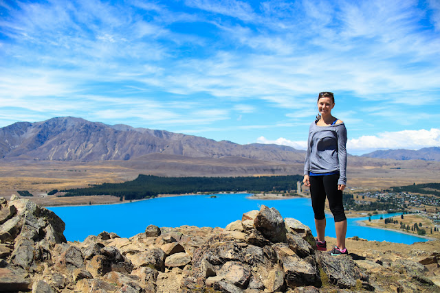at the summit of Mount John