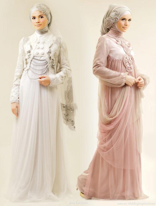 Pakaian gaun kebaya busana pengantin muslim grosir baju cloth versus