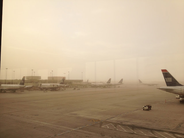 PHX Sky Harbor Airport Haboob USAirways CapnAux airline aviation