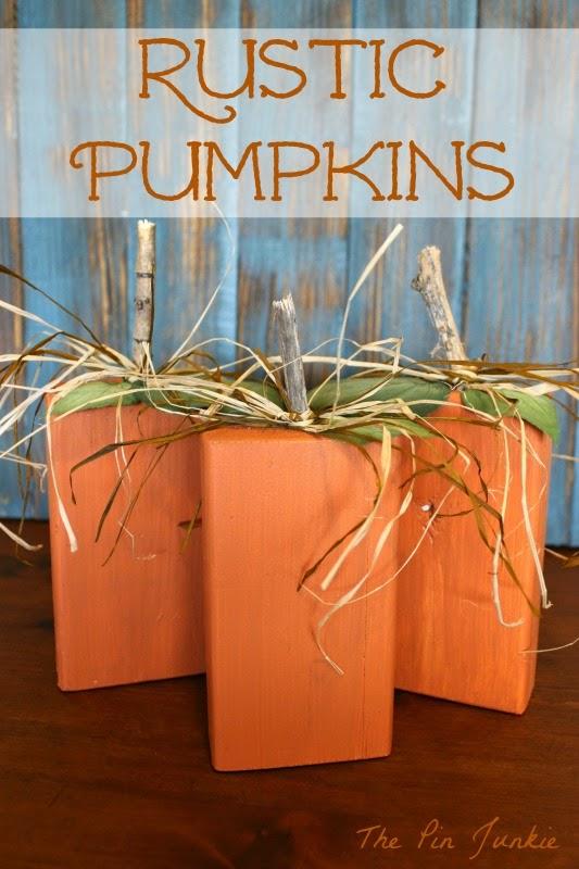 Rustic Wooden Pumpkins