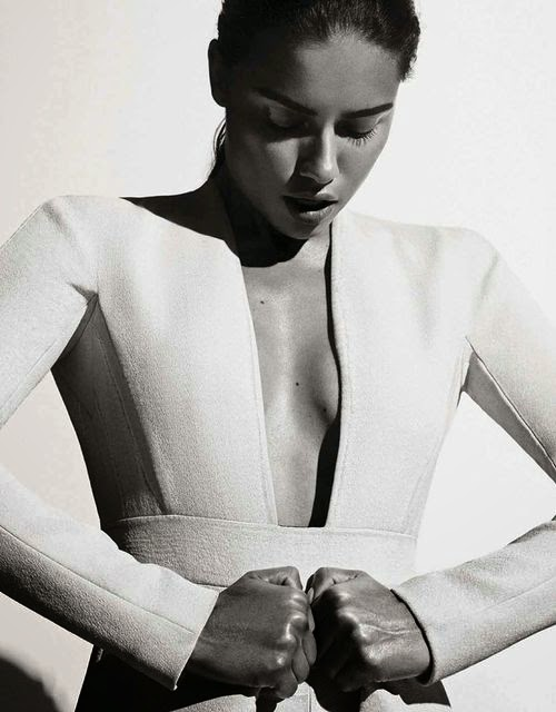 Adriana Lima Interview Germany black and white minimalism