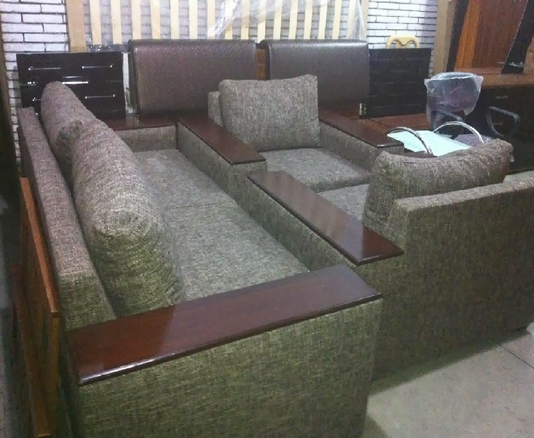 sofa 5 seater set and wooden arm furniture design. Black Bedroom Furniture Sets. Home Design Ideas