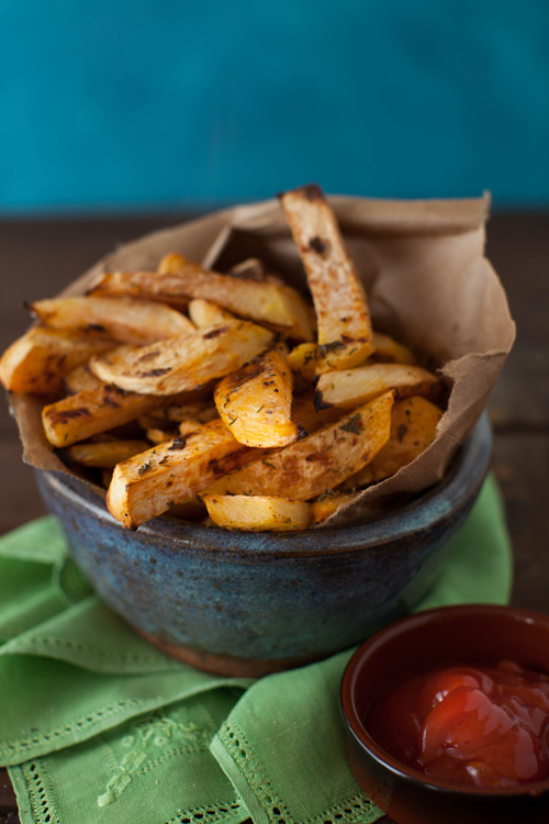 how to cut rutabaga fries