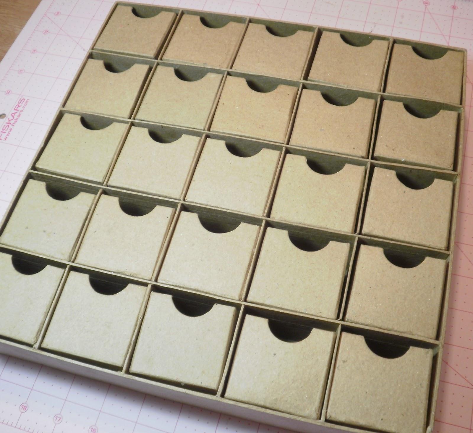 Blank Calendar Hobby Lobby : Paper mache advent calendar box new template site