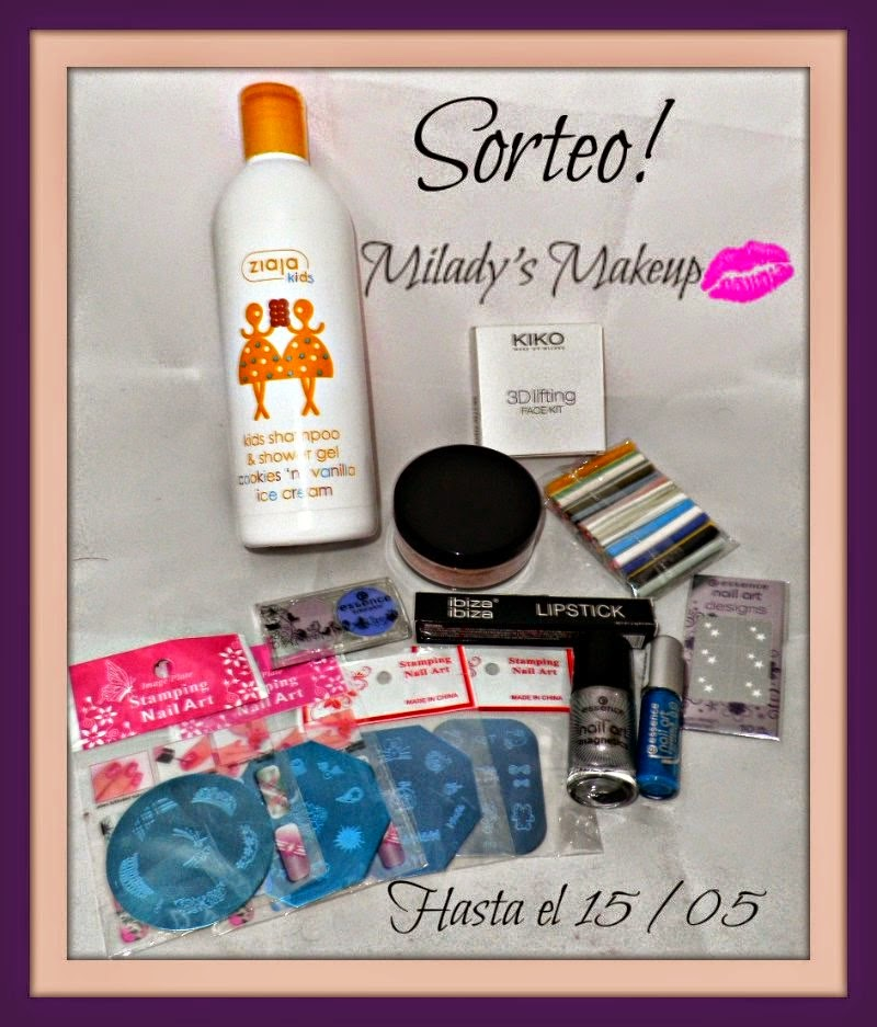 "Sorteo en el blog ""Milady's Make Up"""