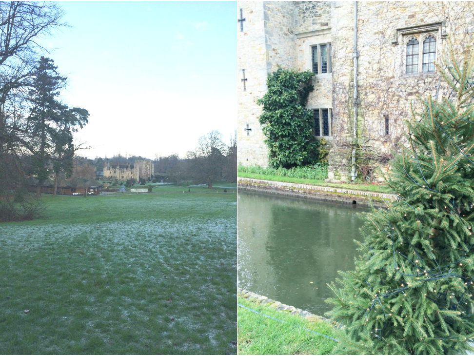 Outside Hever Castle, England,  and the grounds