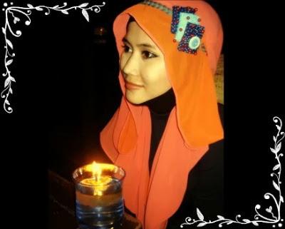 Tutorial hijab Untuk Wanita Hanya Dengan Seutas Tali Part 9