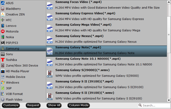 Galaxy Note Pro 12.2 Video Format