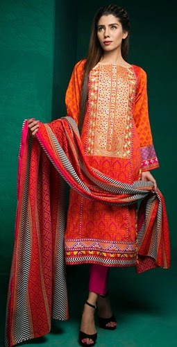Satrangi Winter Fabric & Shawl 2014/15