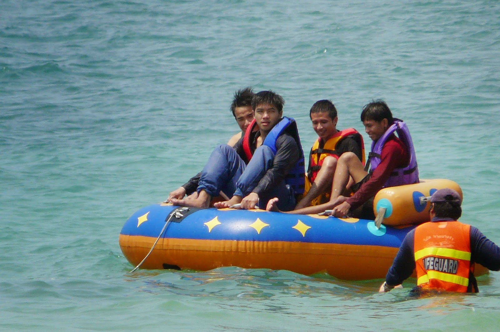 Thai boys at sea
