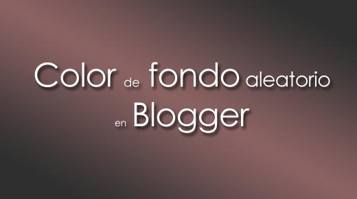 Fondo de un contenedor al azar en Blogger