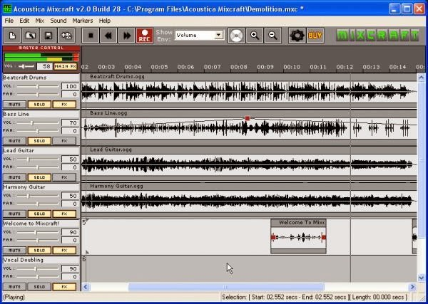 acoustica mp3 audio mixer free download old version