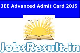JEE Advanced Admit Card 2015