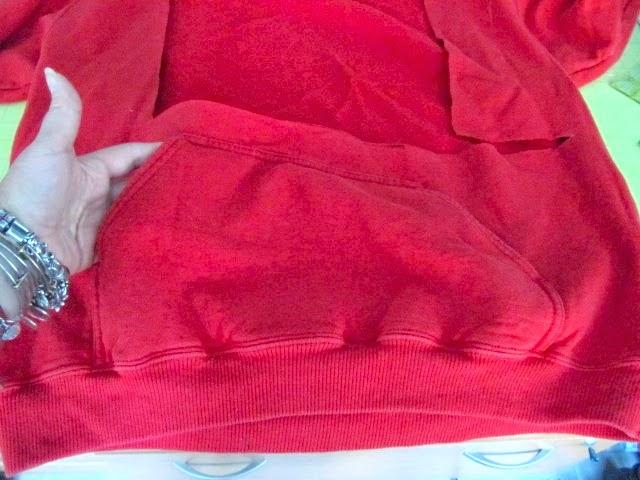 recycled sweatshirt scarf