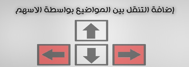 اضافة التنقل بين المواضيع بواسطة اسهم لوحة المفاتيح ,التنقل بين صفحات المدونة بواسطة الاسهم في لوحة المفاتيح ,إضافات بلوجر