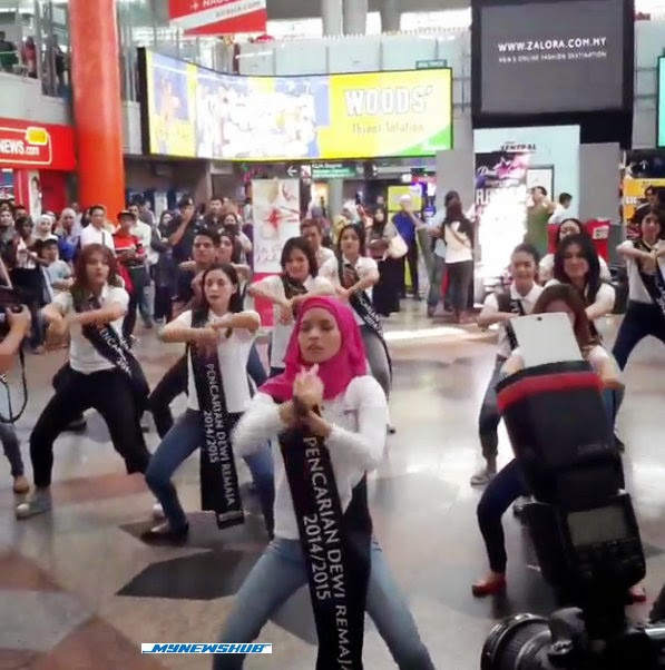 Aksi Dewi Remaja Pakai Tudung Tapi Berjoget Sakan, info, terkini, berita, sensasi, dewi remaja, finalis Dewi Remaja