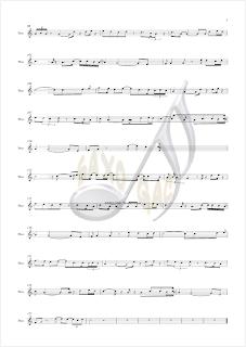 3 Burbujas de Amor partitura en clave de sol para violín, flauta, saxo alto, soprano trompeta clarinete oboe tenor cornos...