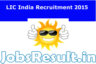 LIC India Recruitment 2015