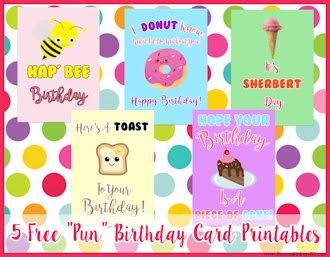 Pun Birthday Card Printables