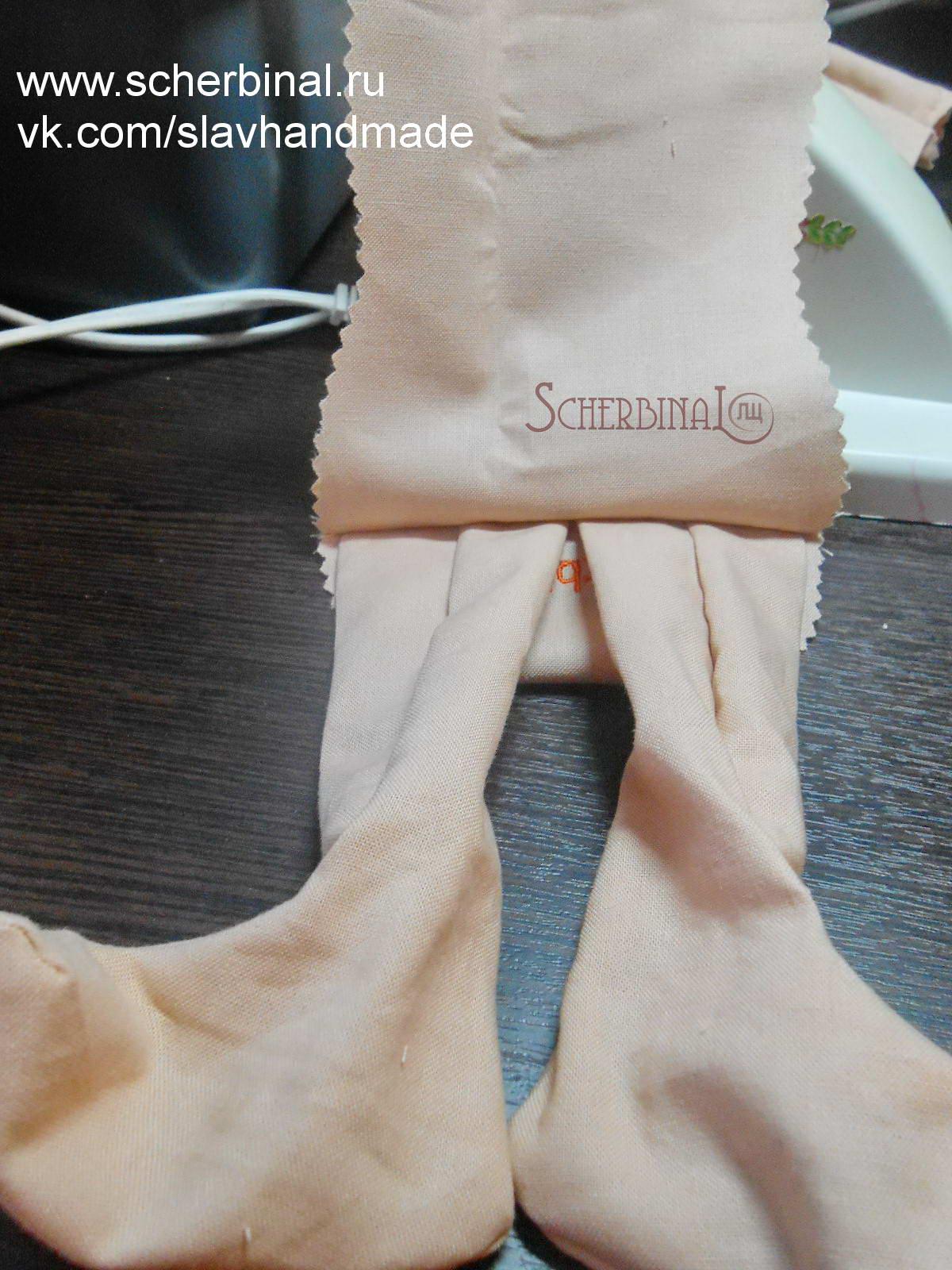 мастер-класс, игровая текстильная кукла-карамелька Людмилы Щербина