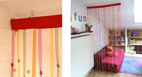 Recicla inventa c mo hacer una cortina con abalorios - Cortinas de abalorios ...