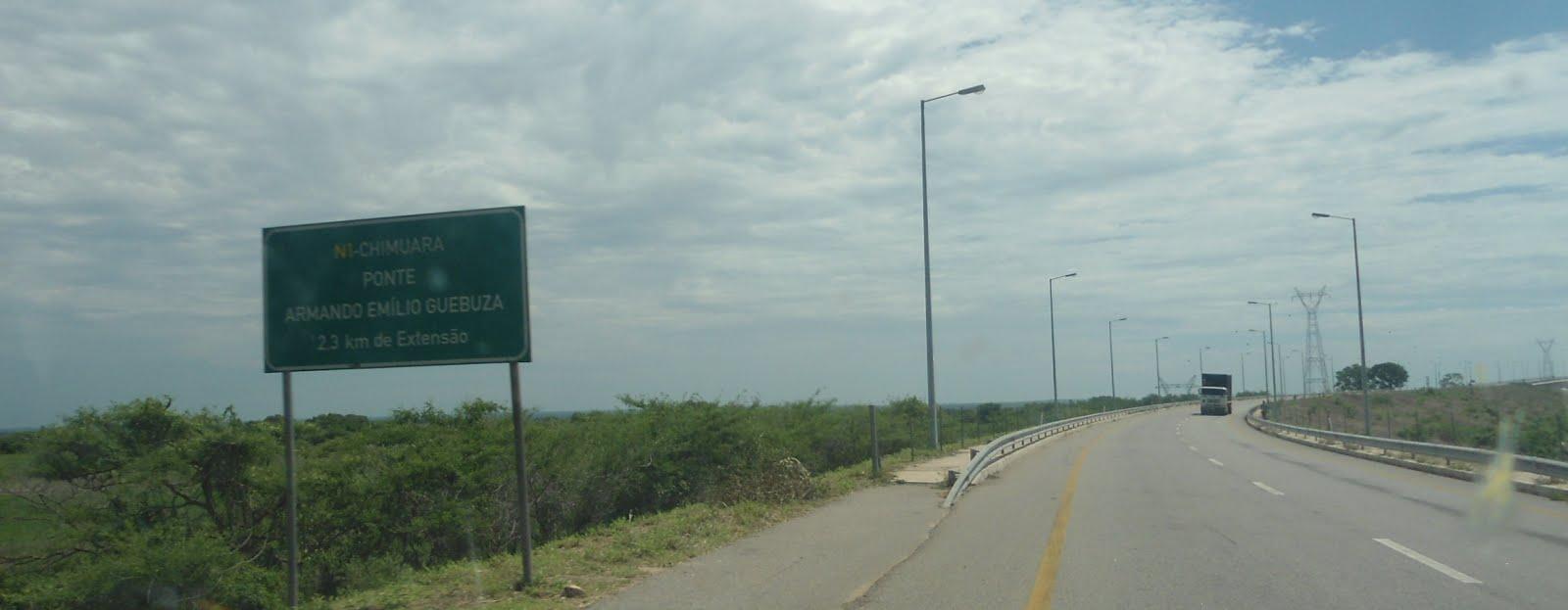 Chegando ao rio Zambeze!