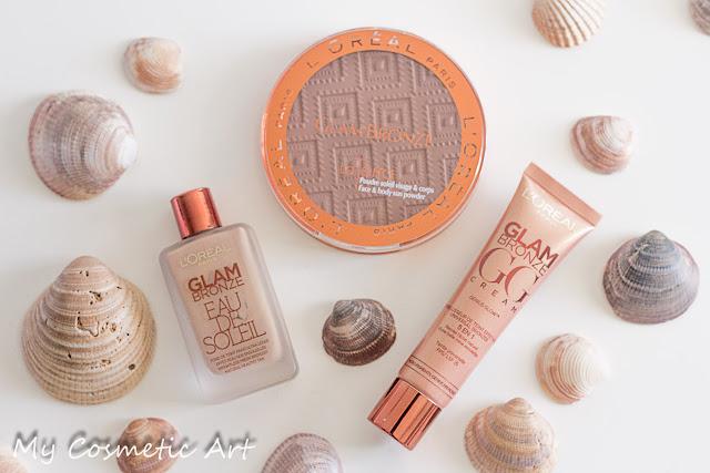 Glam Bronze de L'Oreal: Eau de Soleil, GG Cream (GeniusGlow) y un Maxi Bronzer La Terra