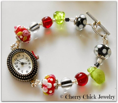 http://www.cherrychickjewelry.com/product/cherry-red-beaded-bracelet-watch?tid=4