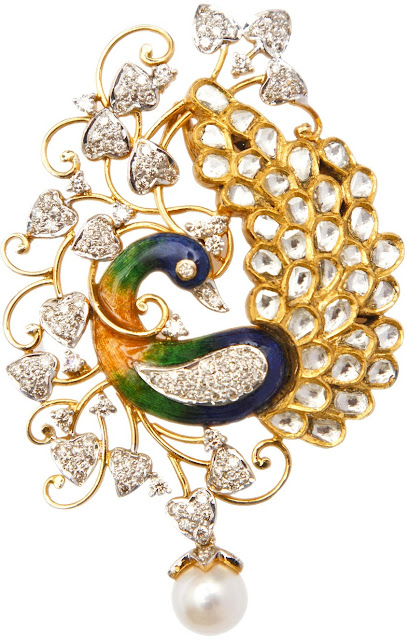 Entice peacock pendant