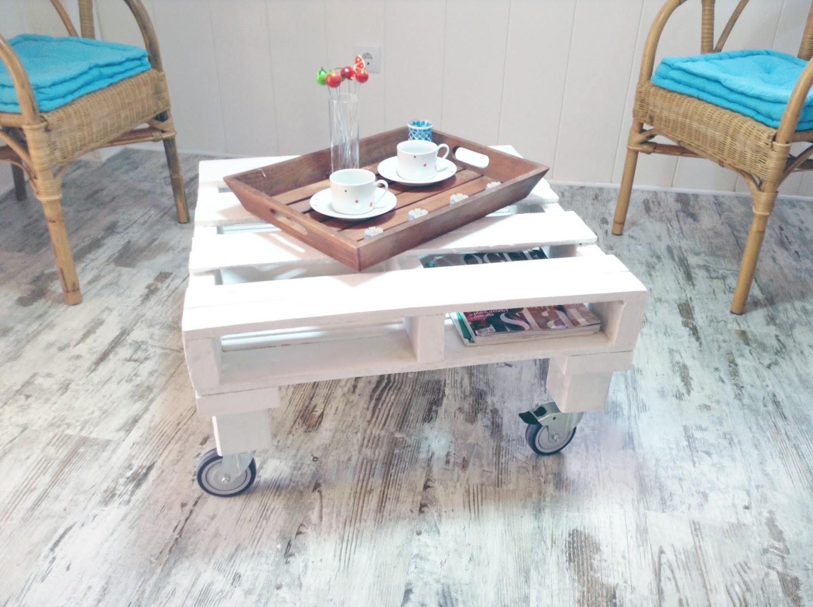 cómo hacer una mesa de centro con palets