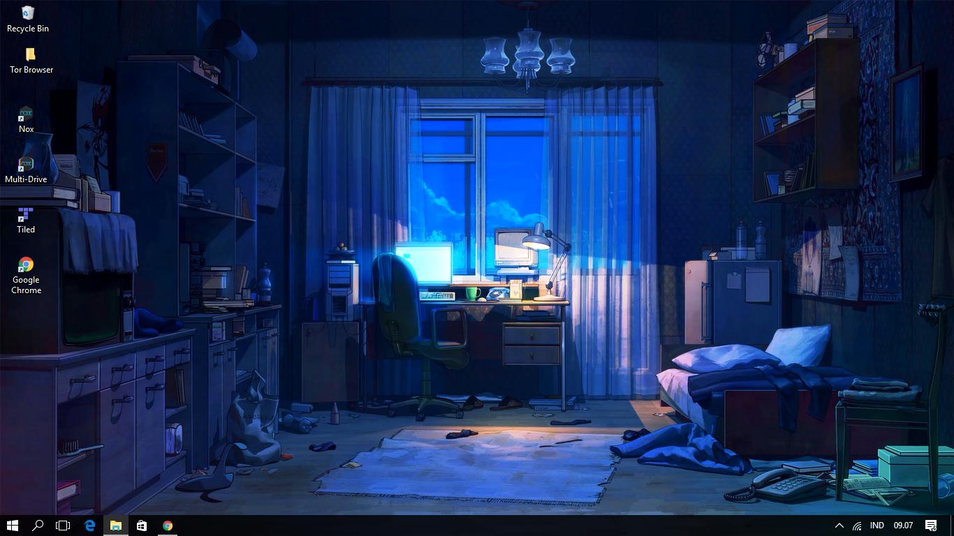 Rainny Day Anime Room (Wallpaper Engine)