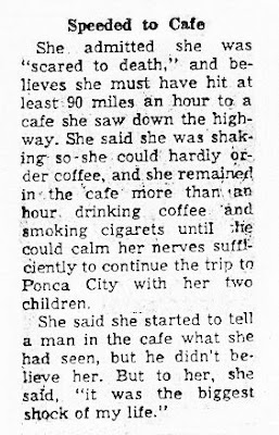 Saucer Frightens Woman - Oklahoma City Times (2) 9-16-1964