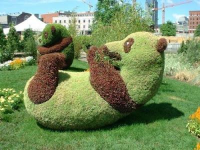 panda made from grass