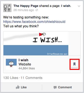 فيس بوك يختبر زر 'save-for-later' للمره الثانية