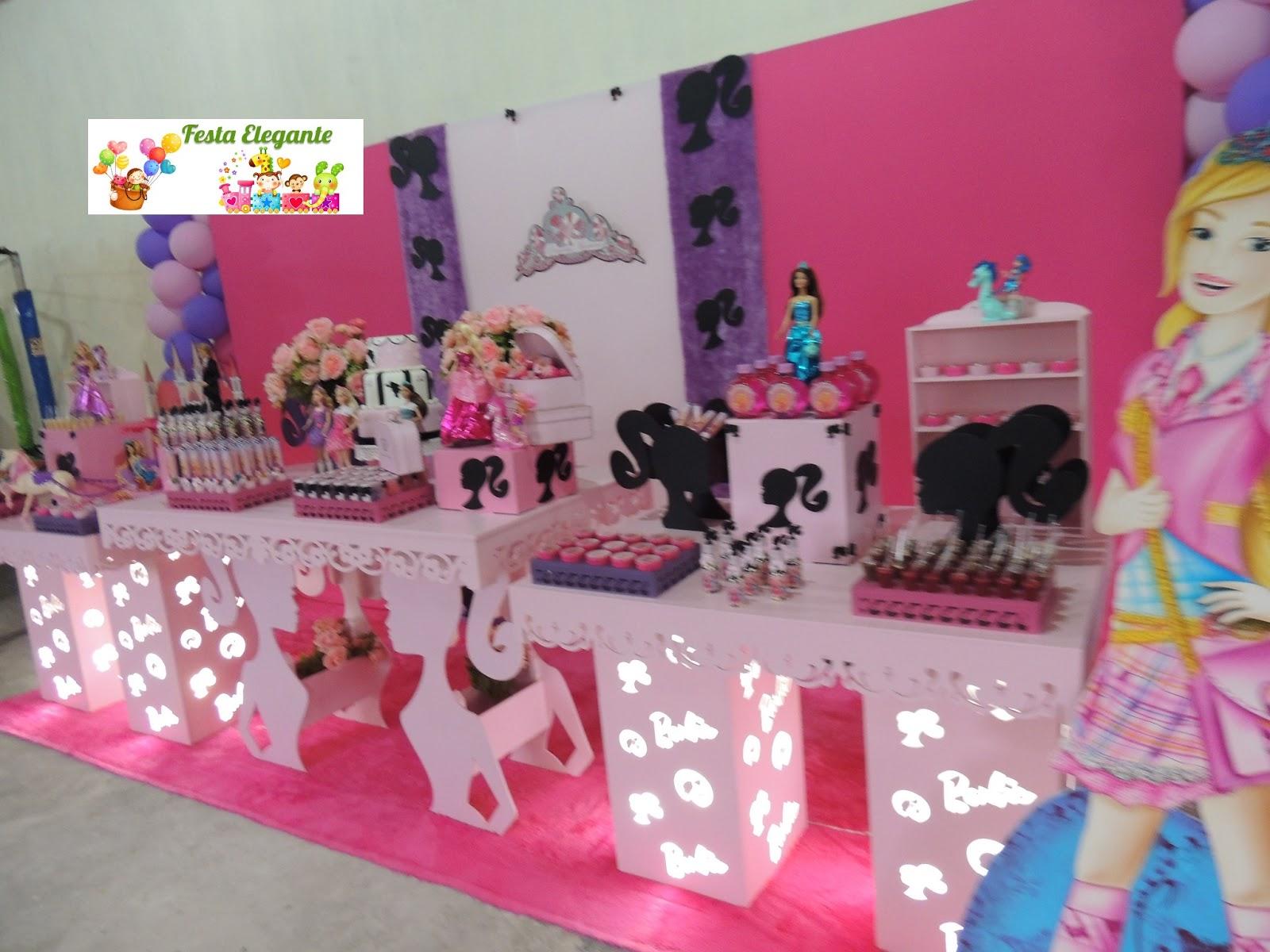 decoracao festa xuxinha:FESTA ELEGANTE DECORAÇÃO PARA FESTAS INFANTIS: Barbie Escola de