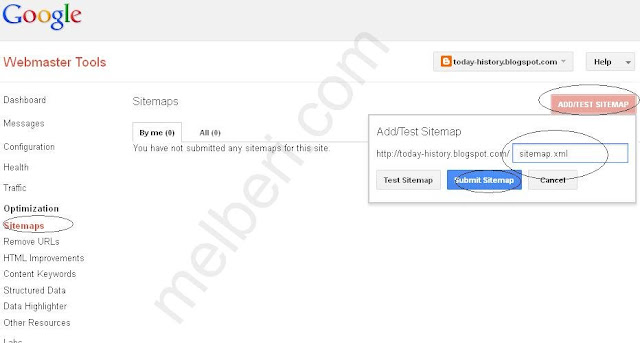 How to submit blogger sitemap to Google Webmaster Tool