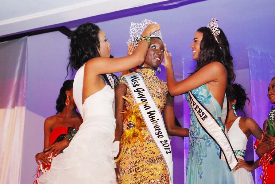 Miss Guyana Universe 2012 winner Ruqayyah Boyer
