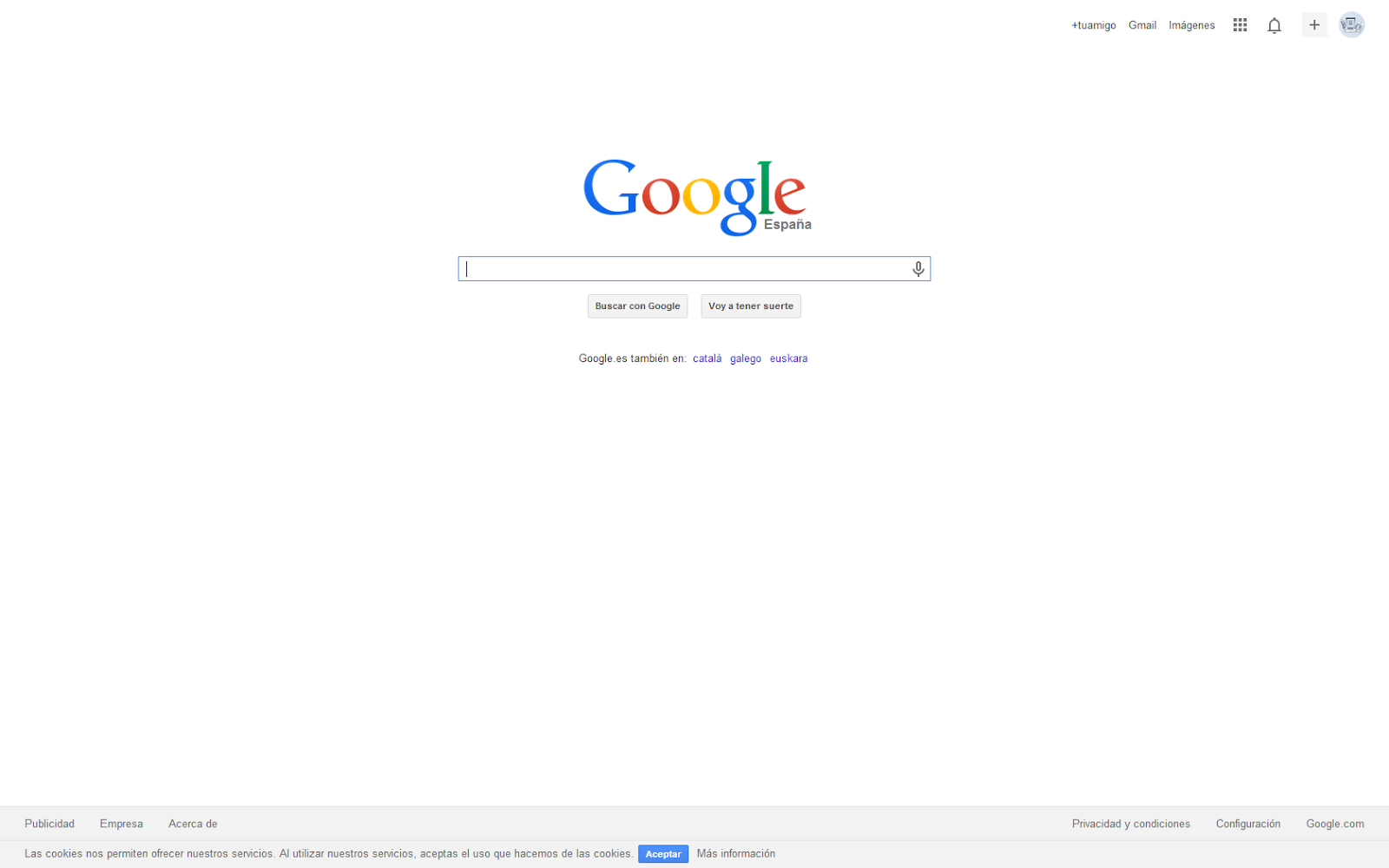 Pantalla completa de nuestro navegador
