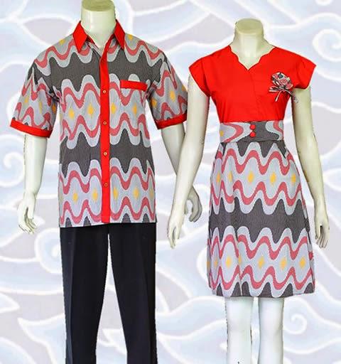 baju batik couple pasangan model terbaru