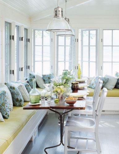 Breakfast_Nook_Bench_Seating http://www.cococozy.com/2011/04/lake-house-kitchen.html