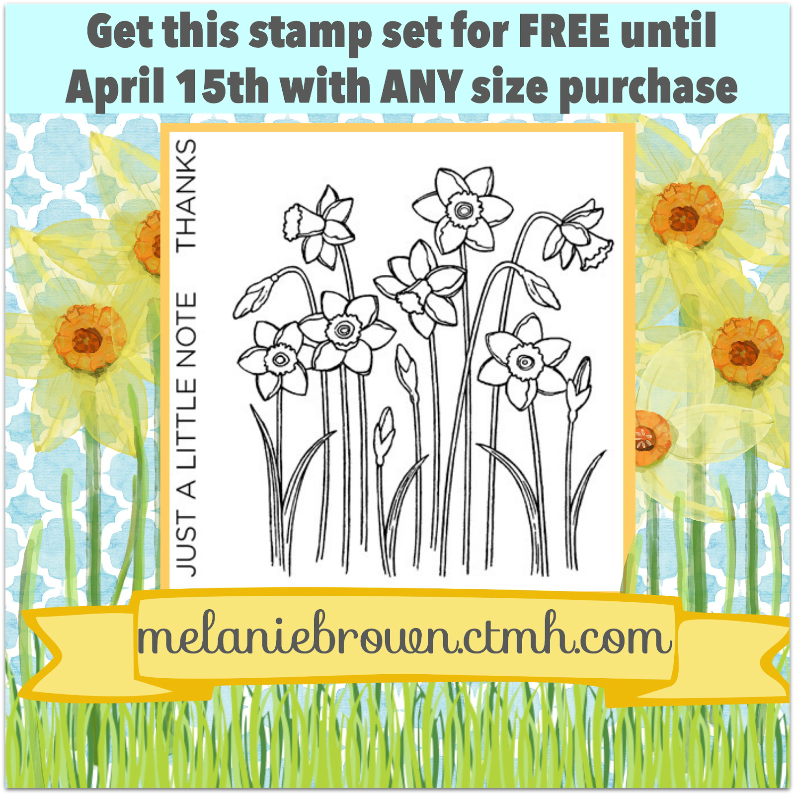 Free daffodil stamp set
