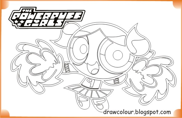 printable-the_powerpuff_girls-bubbles_cute-coloring-pages