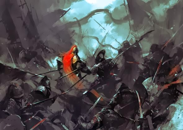 Wenjun Lin illustrations fantasy violence wars battles Battle of the soul