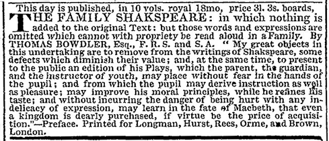 Thomas Bowdler, Henrietta Maria Bowdler, Bowdlerize, Censorship